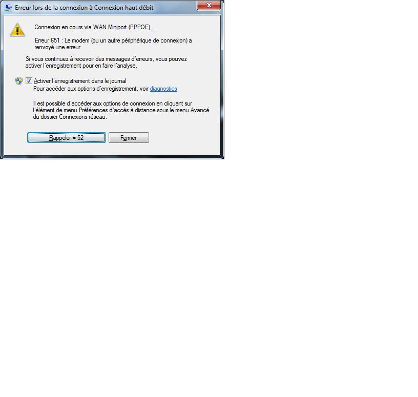 comment réparer erreur 651 windows 7