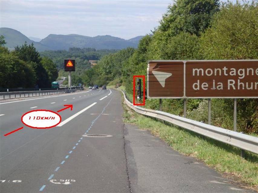 Radar sur l'A63 à Saint-Jean-de-Luz Source:Louvine64